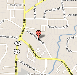 Map and directions to the Atlanta dental practice of Dr. Todd Davis, located in Buckhead.